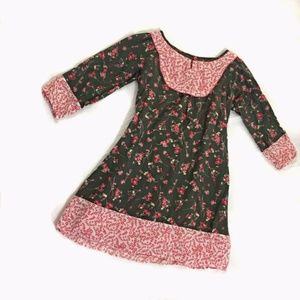 Lucky Brand Girl's Dress Size Small Green Pink